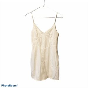 Tiger Mist white bodycon fitted zipper mini dress